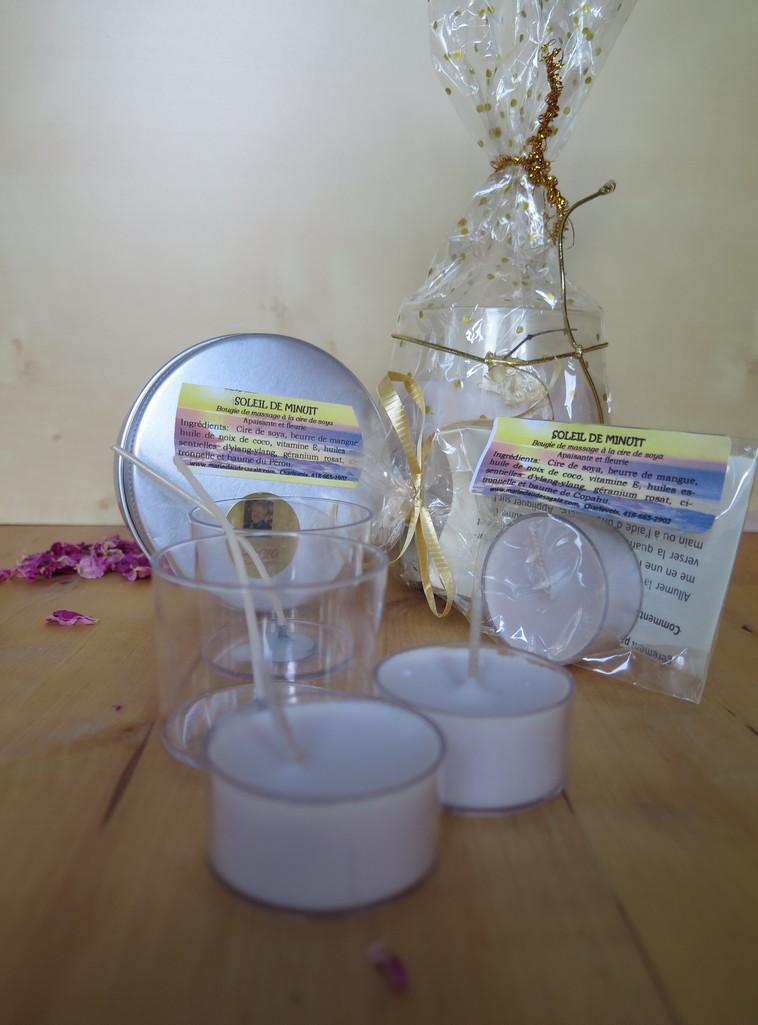Bougies à massage