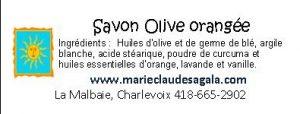 Savon Olive orangée