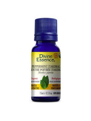 Huile essentielle biologique de menthe poivrée Divine Essence